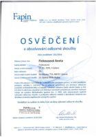 Certifikát o absolvování odborné zkoušky - Bc. Aneta Kubrtová - Refinancování hypotéky - Matějova hypotéka