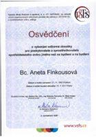 Certifikát úvěry na bydlení - Bc. Aneta Kubrtová - Refinancování hypotéky - Matějova hypotéka