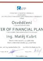 Ing. Matěj Kubrt - Master of Financial Planning - Matějova hypotéka