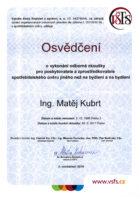 Ing. Matěj Kubrt - Kvalifikační odborná způsobilost - Úvěry - Matějova hypotéka