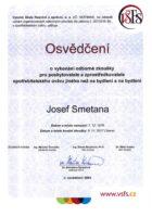 Josef Smetana - Osvědčení o výkonání odborné zkoušky - Americká hypotéka - Matějova hypotéka