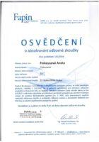 Certifikat odborne zkousky Fapin - Aneta Kubrtova - Refinancovani hypoteky - Matejova hypoteka