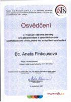 Certifikat spotrebitelske uvery - Aneta Kubrtova - Refinancovani hypoteky - Matejova hypoteka