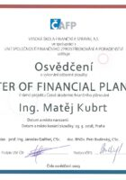 Ing. Matej Kubrt - Master of Financial Planning - Matejova hypoteka