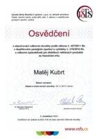 Ing. Matej Kubrt - Vysoka skola financni a spravni - Matejova hypoteka